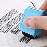 WuLi77 - Timbri trasparenti in silicone per proteggere l'identità personale, per creare biglietti, stencil fai da te, goffratura, album fotografici, artigianali, regali fatti a mano