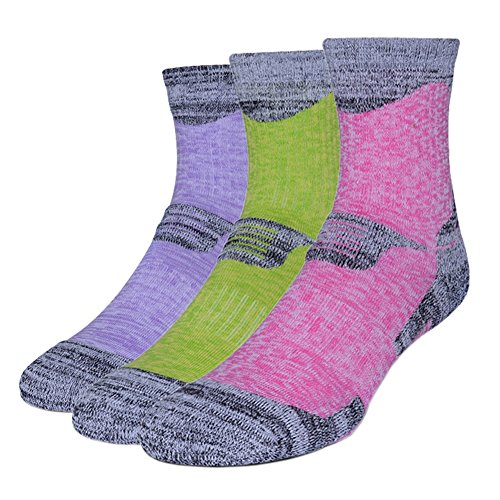 51JGv88q4bL. SS500  - 3 Pairs Men Women Running Hiking Socks - No Blister Terry Cushion, Breathable, Warm, Moisture Wicking, Arch Support, for Outdoor Sports Walking Trekking Cycling Camping Golf Gym, Unisex UK Size 3-7