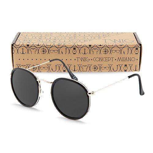 occhiali-da-sole-twig-rembrandt-uomo-donna-montatura-rotonda-uv-400-cat-3-sunglasses-nero-nero