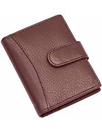 Wildland Men Brown Genuine Leather Card Holder (20 Card Slots)