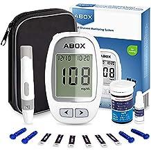 ABOX Medidor de Glucosa en Sangre, Kit de Glucómetro Codefree con 25 Tiras, 25