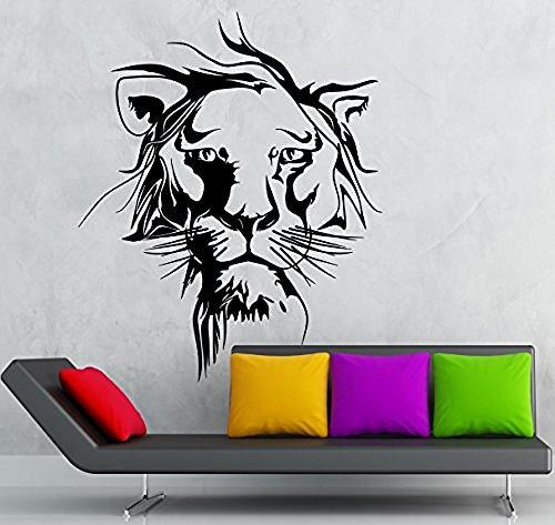 GGWW Wall Sticker Vinyl Decal Lion Leo Zoo Animal Tribal Beautiful Room Decor (Ig2058)