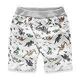 Allence Unisex Baby Dinosaurier-Muster Jeans-Shorts Jungen-Shorts Kinder-Shorts Sommer Aktive Strand Kurze Hose Elastische Taille Kordelzug Kurze Hose