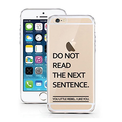 iPhone 7 Hülle von licaso® für das Apple iPhone 7 aus TPU Silikon Nap all Day Sleep all Night Party Never Faultier Muster ultra-dünn schützt Dein iPhone 7 & ist stylisch Case Design Schutzhülle Bumper Do not read
