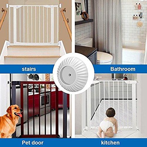 N newland 4pc Baby Sicherheits Wandschutz für Treppenschutzgitter, Druck Tür Schützt Treppen, Türen, Tore und Wände