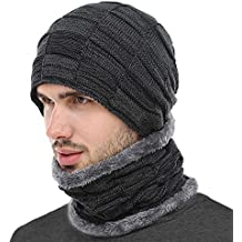 BOYOU Unisex Hombres/Mujeres Invierno Cálido Sombrero de Punto Al Aire Libre de Felpa Engrosamiento