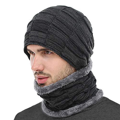 BOYOU Unisex Herren/Frauen Winter Warme Mütze Stricken Im Freien Plüsch Verdickung Strickmütze Ski Hut Für Winter