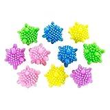 Astra Gourmet 10PCS PVC riutilizzabile lavaggio asciugabiancheria sfera tessuto ammorbidire Helper detergente, colori assortiti