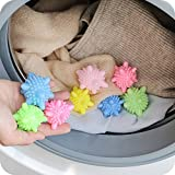 Skitic 12 Stück Wäscherei Ball Anti-Winding, Solid bunte Maschine Waschbälle Kunststoff Trockner Bälle