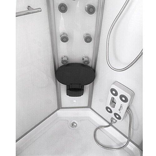 Home Deluxe White Pearl 90x90 cm Duschtempel, inkl. Dampfsauna und komplettem Zubehör - 4