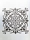 #3: Woolley Wall Stencil, Wall Decoration Stencil with Attractive Design in Size 24x16 inch
