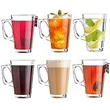 VonShef Set aus 6 Latte Gläsern V-förmige 200 ml Becher für Kaffee Heisse Schokolade 11cm (h) x 7.5cm (w)