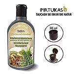 Sedum Natürlicher Saunaaufguss - Sauna-Öle für Sauna - Sauna-Aufguss Kräuterextraktmischung (Kiefernknospen und -nadeln, Salbeiblätter, Zimt) mit ätherischem Wacholderöl, Honig und Jodsalz - 240ml