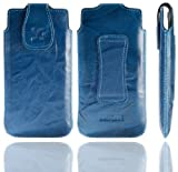 Suncase Étui pour LG T385 (Bleu/effet cuir délavé)