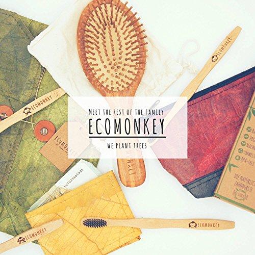 ECOMONKEY® ♻ Geldbörse vegan für Herren & Damen + klein & ohne Münzfach + veganes Leder (Kunstleder) aus Blättern + Slim Wallet + dünner Geldbeutel … (Grün) - 4