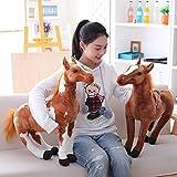 Homeofying Simulazione 3D Cavallo Animale Peluche Ripiene Doll Giocattolo per Bambini Room Decor Foto Puntelli Nordic Peluche 2# 30 Centimetri
