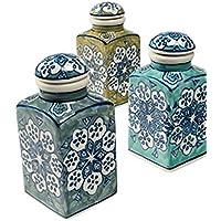 Barattoli portaspezie in ceramica, commercio equo e
