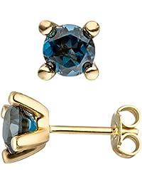 570611458ee4 Jobo Pendientes 585 Oro Amarillo 2 Azul topase Azul London Blue Pendientes