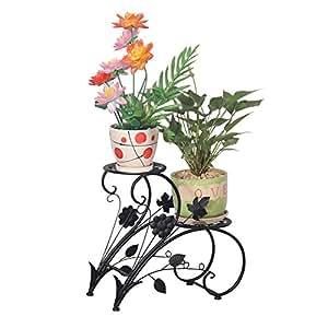 tag re pots de fleurs porte plantes avec 2 soucoupes en. Black Bedroom Furniture Sets. Home Design Ideas