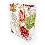 Arrow Paper Products Carry Bags Rose Golden Flower Return for Weddings, Birthday, Holiday Presents (Pack of 10, 28x20x7.5 cm)