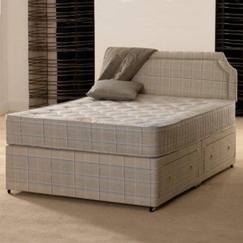 Deluxe Beds Ltd 4Ft 6 Double Paris Orthopaedic Divan Bed - No Headboard - No Drawers