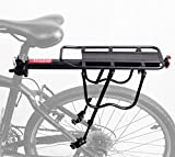 WINNINGO Heck Fahrrad-Rack, Kapazität Verstellbare Legierung Fahrrad Gepäck Cargo Rack 115 LB Kapazität Fahrrad-Zubehör mit Reflektierenden Logo