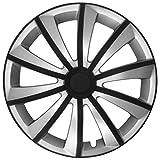 (Farbe & Größe wählbar) 16 Zoll Radkappen, Radzierblenden Gralo Weiß/Schwarz passend für fast alle Fahrzeugtypen (universal)