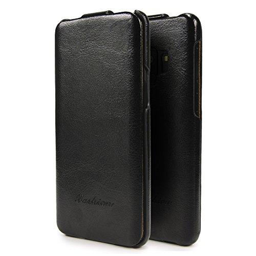 Urcover Flip Cover kompatibel mit Samsung Galaxy S9 Schutz-Hülle I Case Schwarz I Fashion Klapp-Tasche I Hülle I Smartphone Zubehör