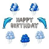 Globos para Cumpleaños Fiesta IvyLife Globos Azules de Decoraci�