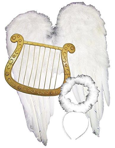 hnachten - Tolle Accessoire für Engelskostüm, Weihnachtsfeier oder Weihnachtsmarkt (Engel Flügel Kostüme)