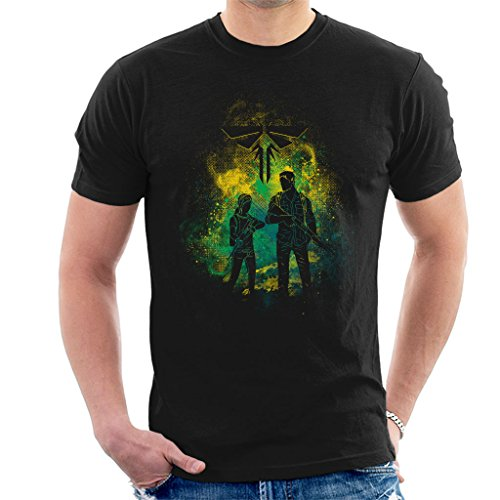 Cloud City 7 The Last of Us Joel and Ellie Outline Men's T-Shirt