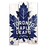 Wincraft NHL Schild aus Holz TORONTO MAPLE LEAFS Holzschild Wood Shield Fence