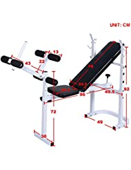 0ee716bc006 Generic Bar Preach Up Workout t Abs Pierna Ba Dumbell Sit Up Workout  Plegable Peso Banco