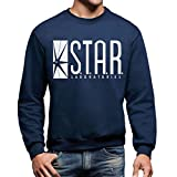 MUSH Sweatshirt Star Lab The Flash - Cartoon by Dress Your Style - Herren-S Ultramarinblau
