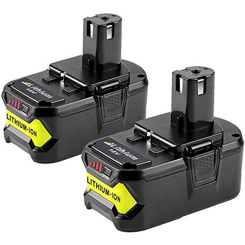 [2 Stück] Dosctt Ersatz für Ryobi ONE+ RB18L50 18V 5.5Ah Li-ion Wekzeug Ersatzakku Akku RB18L50 RB18L40 RB18L25 RB18L15 RB18L13 P108 P107 P122 P104 P105 P102