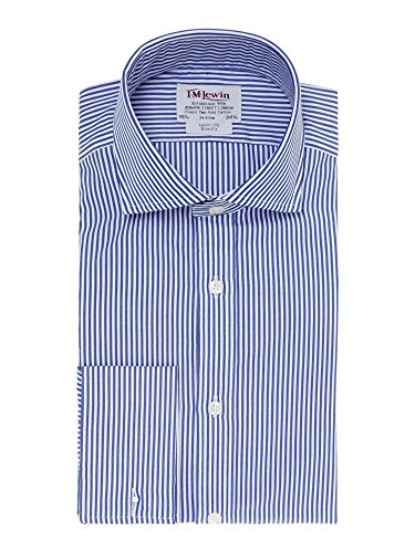 tmlewin-chemise-casual-a-rayures-col-chemise-italien-manches-longues-homme-bleu-bleu-marine
