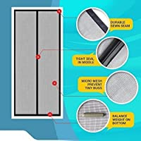 Package Includes 1. Magnetic Screen Mesh (28 Magnets Sewn in) 2. Self Adhesive Velco 3. Push Pins 4. Instruction Set. ***** BEFORE YOU ORDER - #1. Please buy correct size, request you to measure your door frame before order, please don't buy the one ...