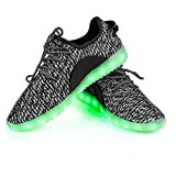Shinmax LED ChaussuresLED Chaussures, Chaussure LED Sports Basket Lumineuse 7 Couleur USB Charge Chaussure Clignotants pour Unisexe Homme Femme Garçon Fille avec Certificat CE