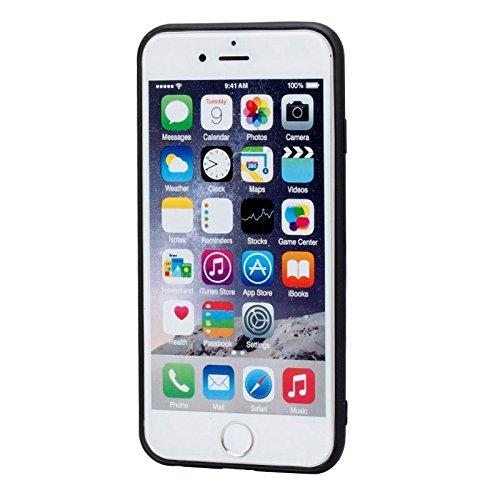 Phone Case & Hülle Für IPhone 6 & 6s, 3D Texture Faltbarer unsichtbarer Halter TPU + PC Kombinationsfall mit Halter ( Color : Blue ) Blue