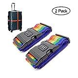 KOBWA Gepäckspanner Koffer Gürtel Gepäck Koffer Schlösser, Verstellbare Personalisierbar Gepäck Spanngurte mit Schlösser für Koffer Reise Zubehör (2Stück)
