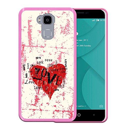 WoowCase Doogee Y6 4G Hülle, Handyhülle Silikon für [ Doogee Y6 4G ] Liebe Herz Handytasche Handy Cover Case Schutzhülle Flexible TPU - Rosa