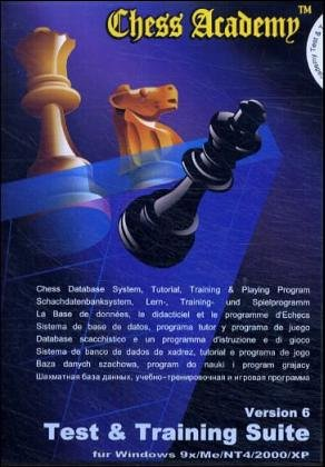 Chess Academy Test & Training Suite, 1 CD-ROM Version 6. Für Windows 95/98/Me/NT4/2000/XP