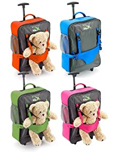 Cabin Max Bear Childrens Luggage Carry On Trolley Suitcase - Blue