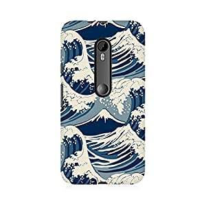 RAYITE Sea Waves Premium Printed Mobile Back Case Cover For Moto G3