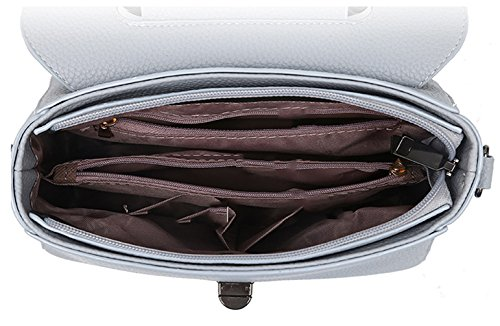 Keshi Pu neuer Stil Damen Handtaschen, Hobo-Bags, Schultertaschen, Beutel, Beuteltaschen, Trend-Bags, Velours, Veloursleder, Wildleder, Tasche Deep Grau