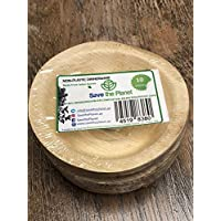 "4.5"" Round Natural bowls set of 10 in pack 100% Eco friendly disposable biodegradable palm leaf plates/bowls Disposable biodegradable party plates(SAVE THE PLANET)"