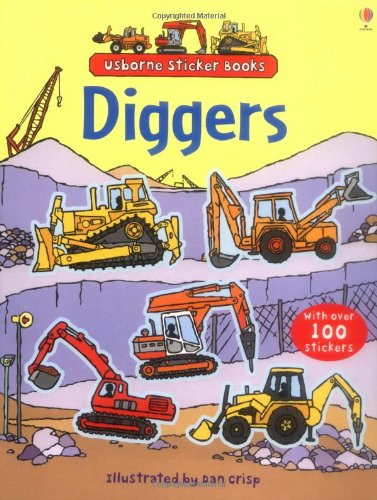 Diggers Sticker Book (Usborne Sticker Books)