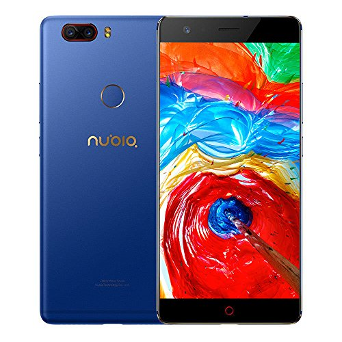 """ZTE Nubia Z17 Lite - Octa-Core 4G Smartphone libre de 5.5"""" [1920*1080] / Snapdragon 653 1.9 GHz, 6GB de RAM, 64GB de ROM, Cmara dual de 13 MP + 13MP, Android 7.1 con Dual-SIM - Azul [versión europea]"""