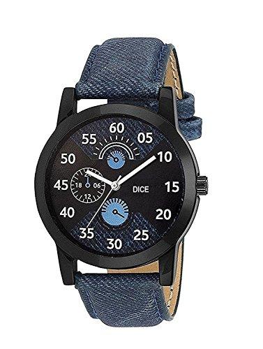 51JHDnR3zNL - Dice Legend D Analogue Black Dial Men's Watch-Leg-B183-0002