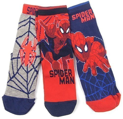 Boys Spiderman 3 pack socks 9-12 12.5-3.5 and 4-7 uk shoe size RRP £6.00 (4-7 shoe)